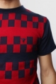 Футболка Fallen Checkered Knit Crew Ox Blood/Dk Navy 2009 г инфо 6434z.